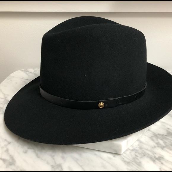 bd831735c94 rag & bone Accessories | Rag Bone Floppy Brim Black Fedora Hat Small ...